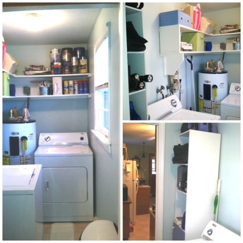 ...I painted and organized my laundry room...