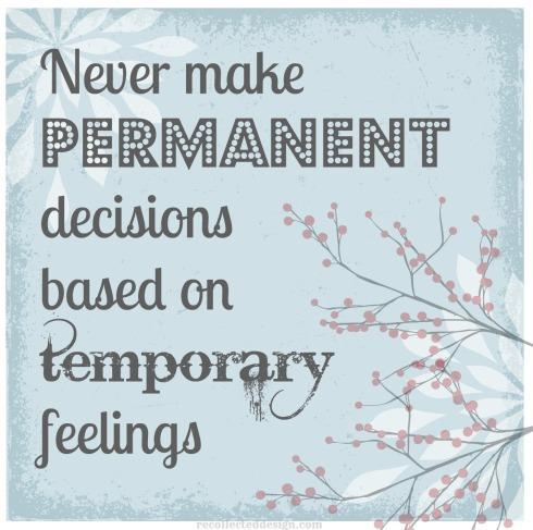 temporary feeling