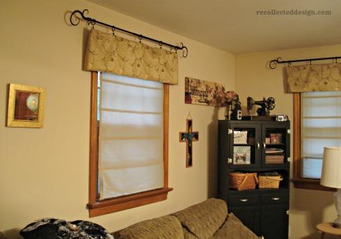 circa 2012ish... trying a minimalist curtain approach...
