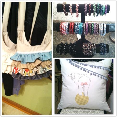 ruffles bracelets and pillow