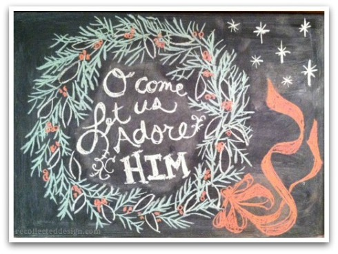wm_o come let us adore him_framed